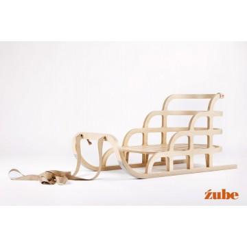 ZUBE drevené sánky