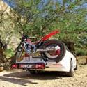 Pre fanúšikov moto športu máme v ponuke nosič na ťažné zariadenie k prevozu trialovej, alebo cross motorky, mopedu a malých skútrov do hmotnosti 90 Kg