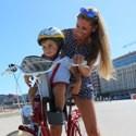 V kategórii cyklosedačky ponúkame rodičom unikátne predné sedačky na bicykel určené najmenším deťom už od 1 roku vhodné na rodinné výlety i na jazdu mestom