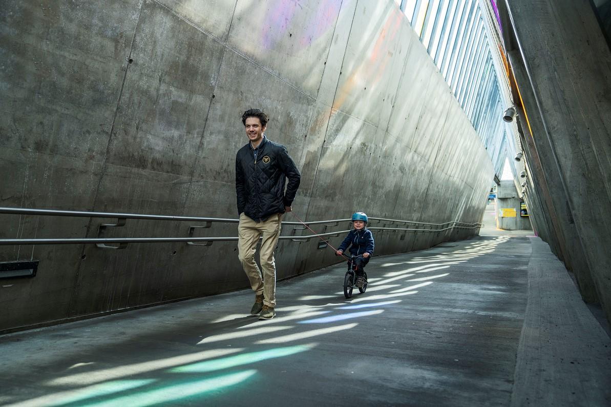 Navijak pre detský bicykel-červený (2