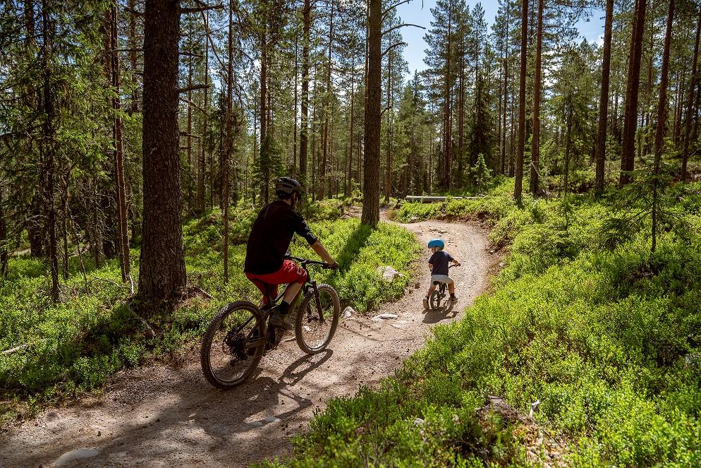 Navijak pre detský bicykel-červený (4